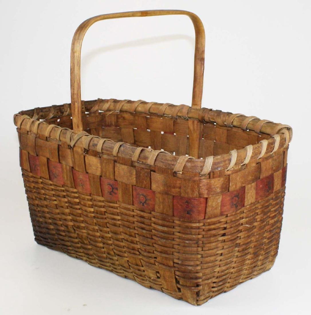 late 19th c Northeastern Woodlands basket - 2