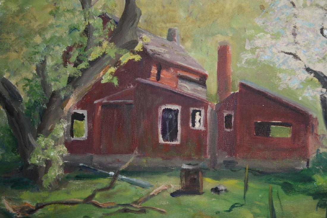 Arnold W Lahee (VT 1888-1976) Barn in Spring - 2
