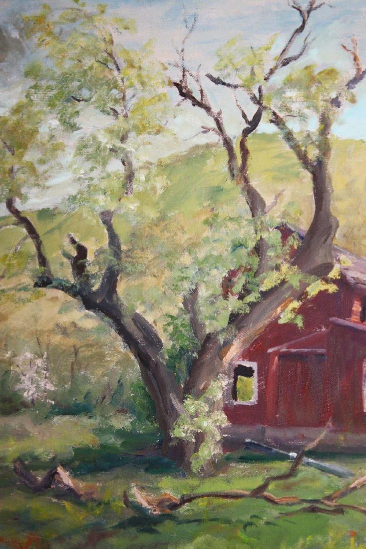 Arnold W Lahee (VT 1888-1976) Barn in Spring - 3