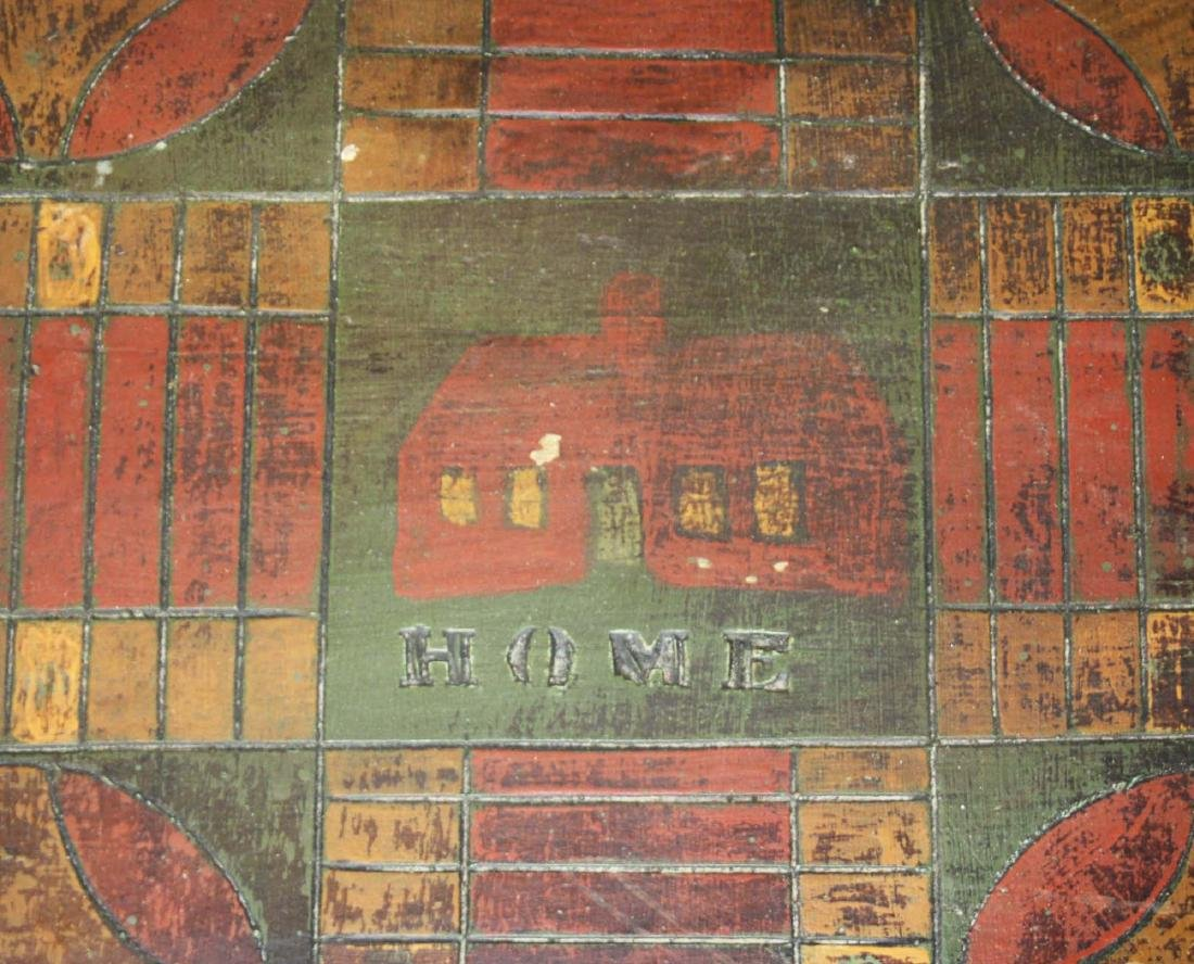 early 20th c carved & painted game board - 3
