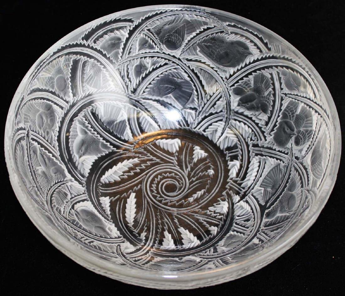 Lalique Pinsons Art Deco crystal bowl - 4