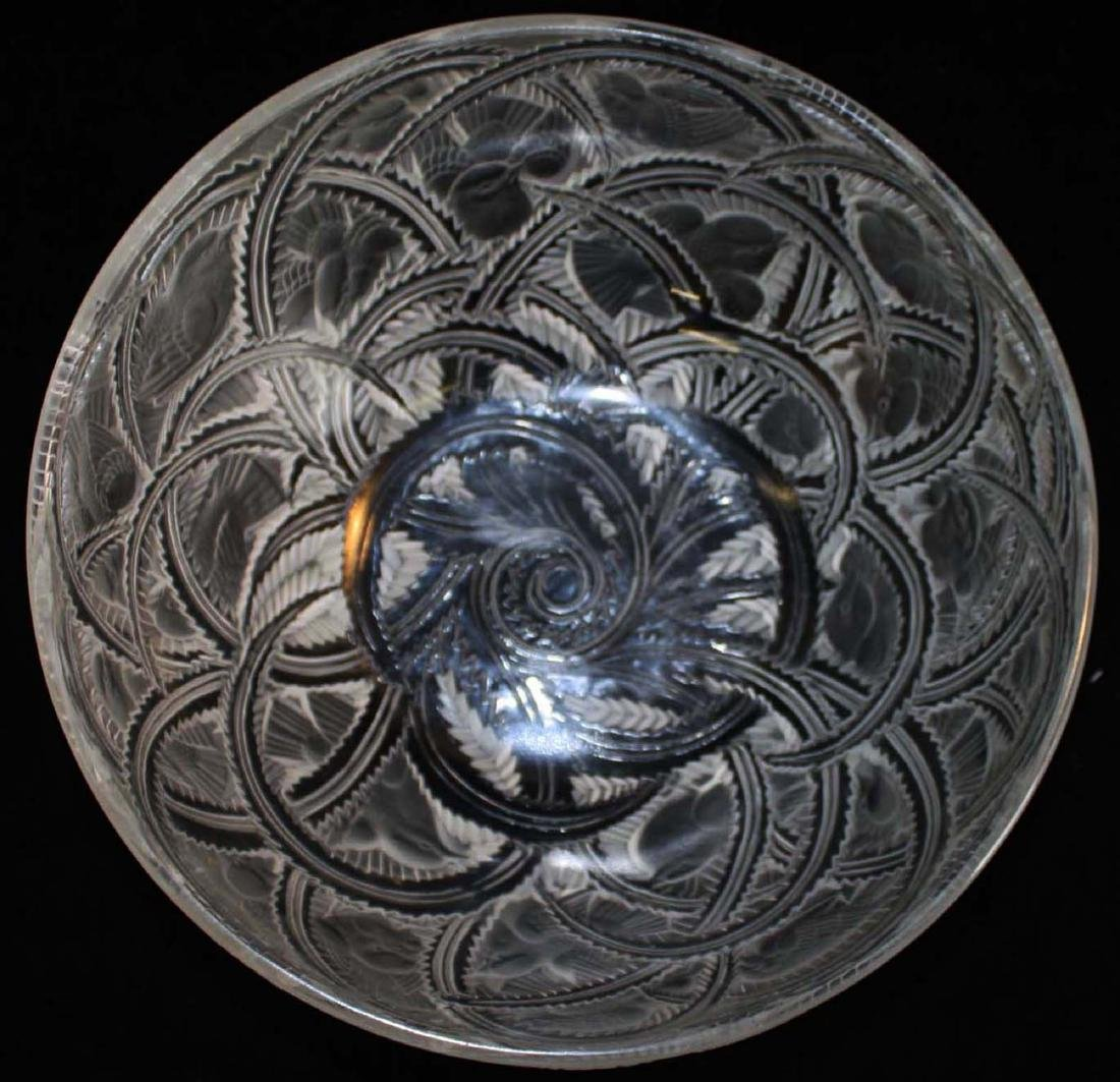 Lalique Pinsons Art Deco crystal bowl - 6