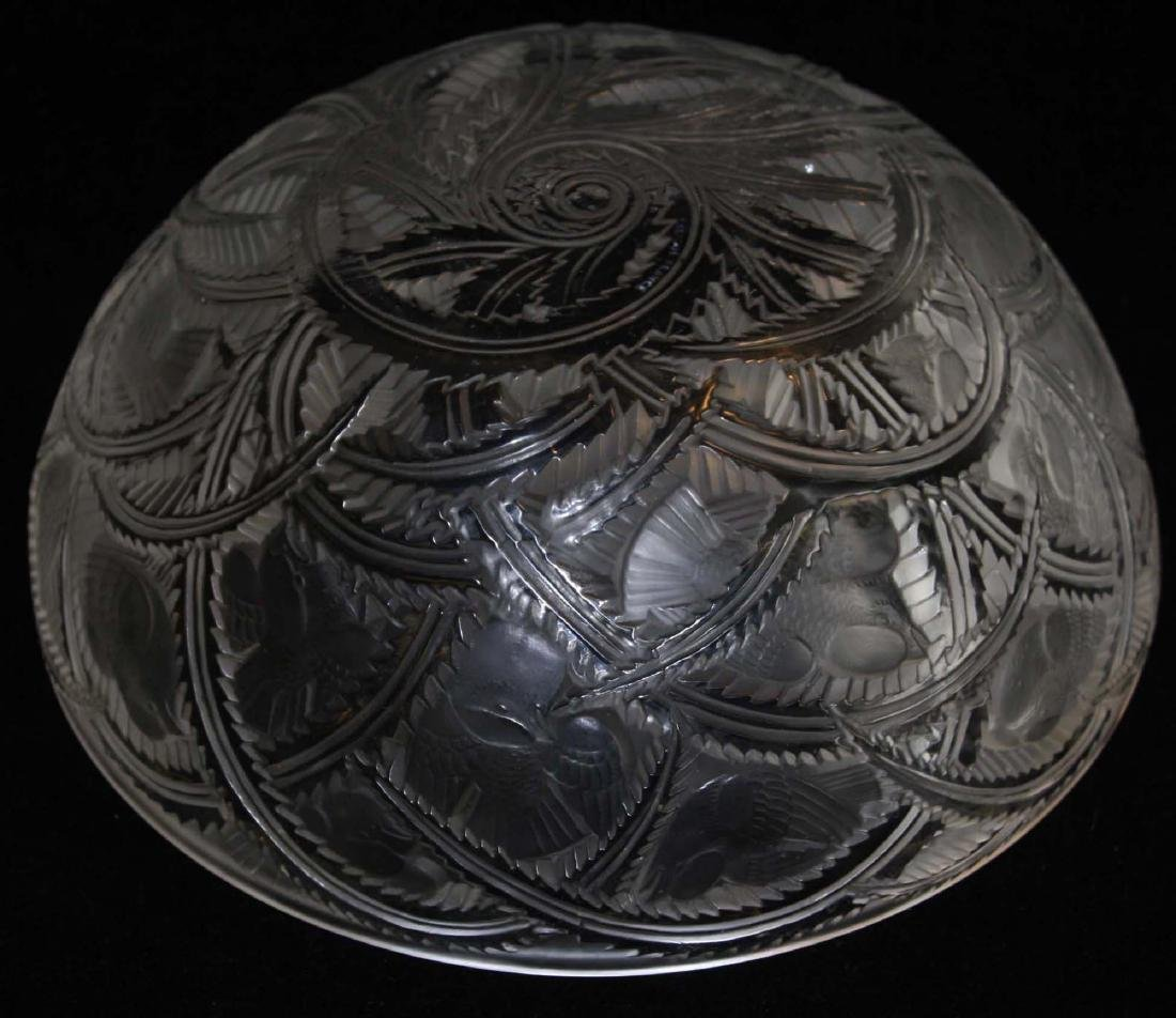 Lalique Pinsons Art Deco crystal bowl - 7