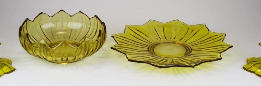 Westmoreland yellow lotus centerpiece set - 4