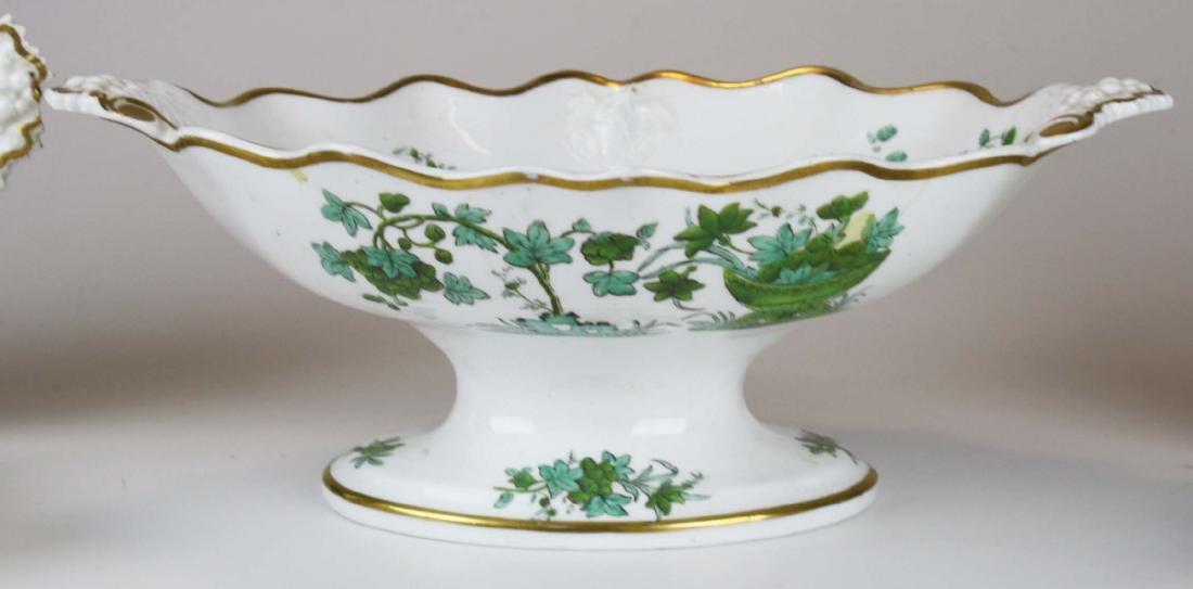 13 pc. English porcelain Georgian dessert set - 5