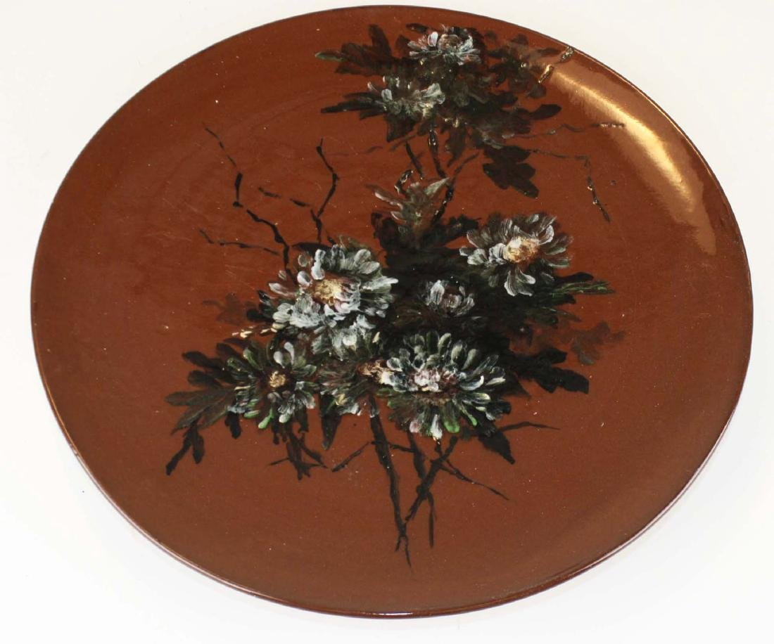 Rookwood  redware hanging art pottery charger