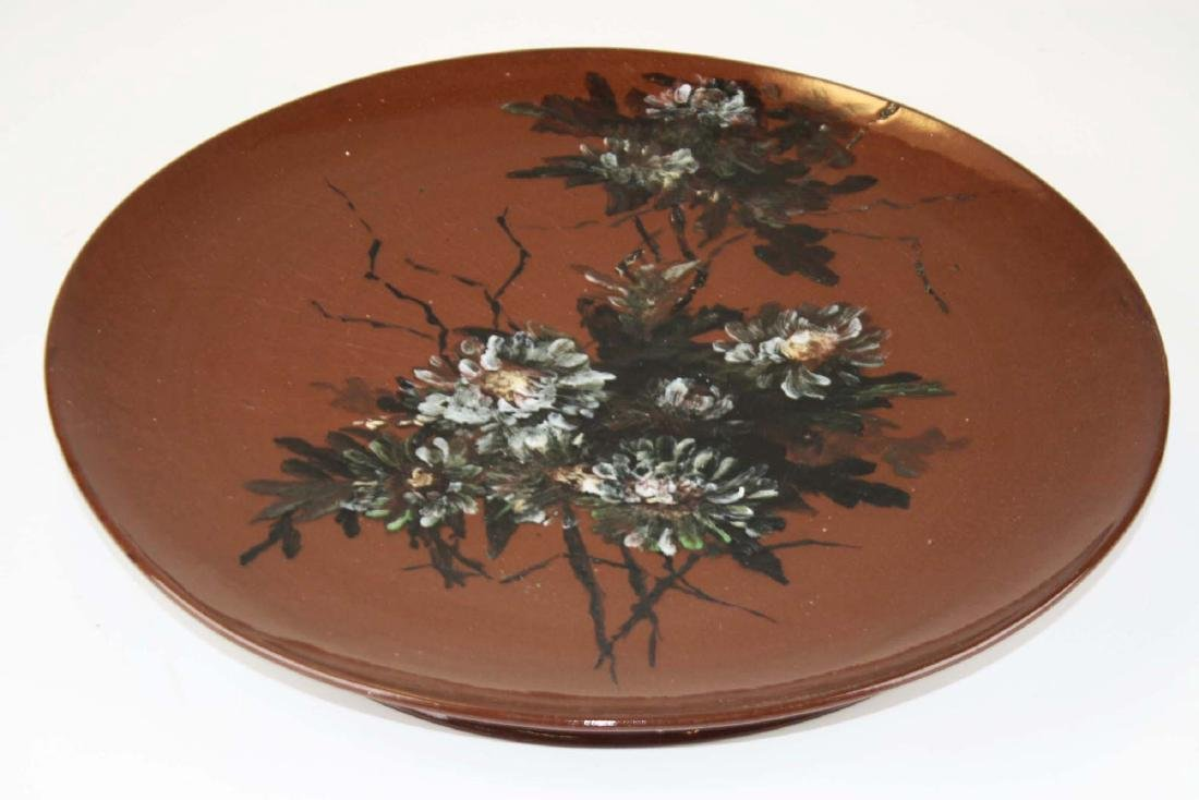 Rookwood  redware hanging art pottery charger - 2
