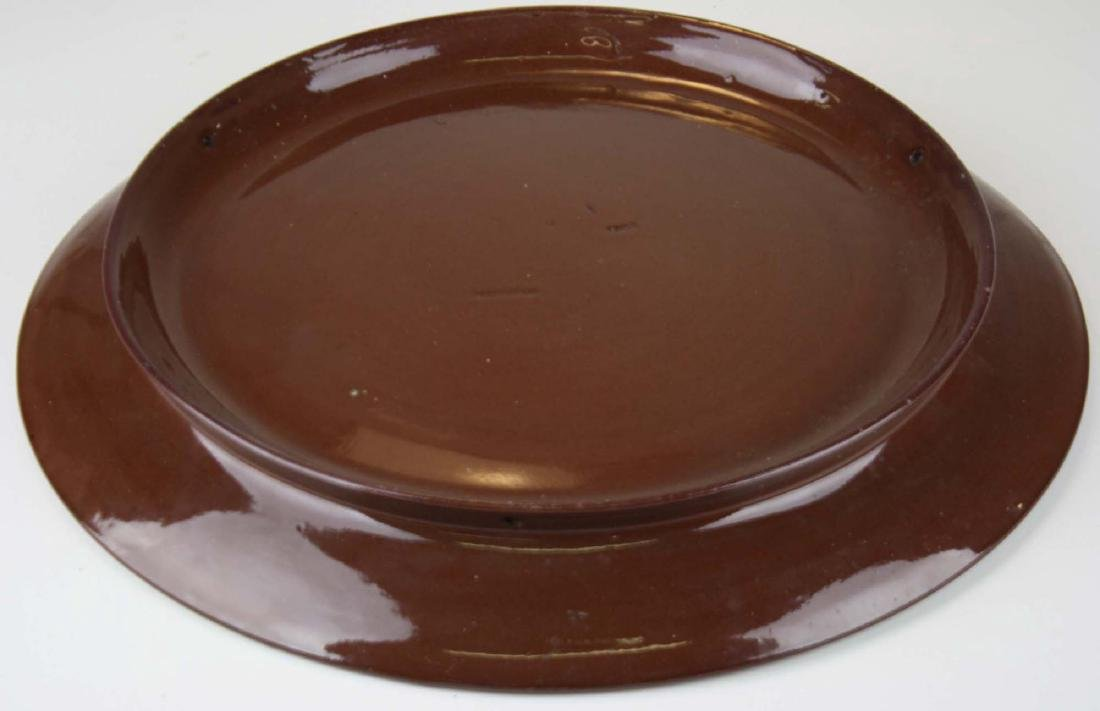 Rookwood  redware hanging art pottery charger - 4