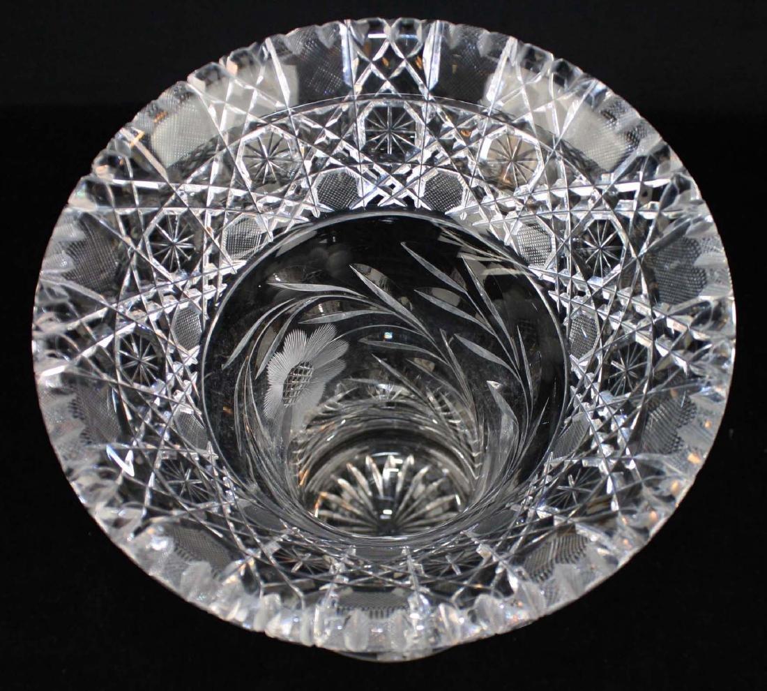 Monumental brilliant cut glass bouquet vase - 4