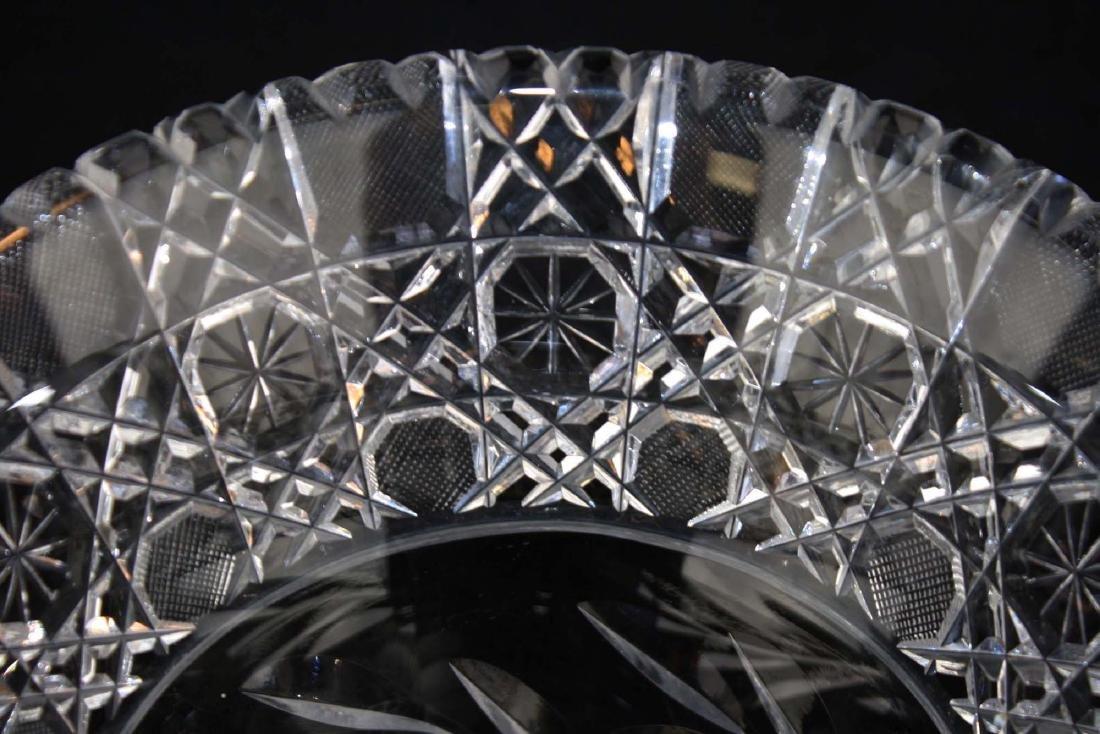 Monumental brilliant cut glass bouquet vase - 7