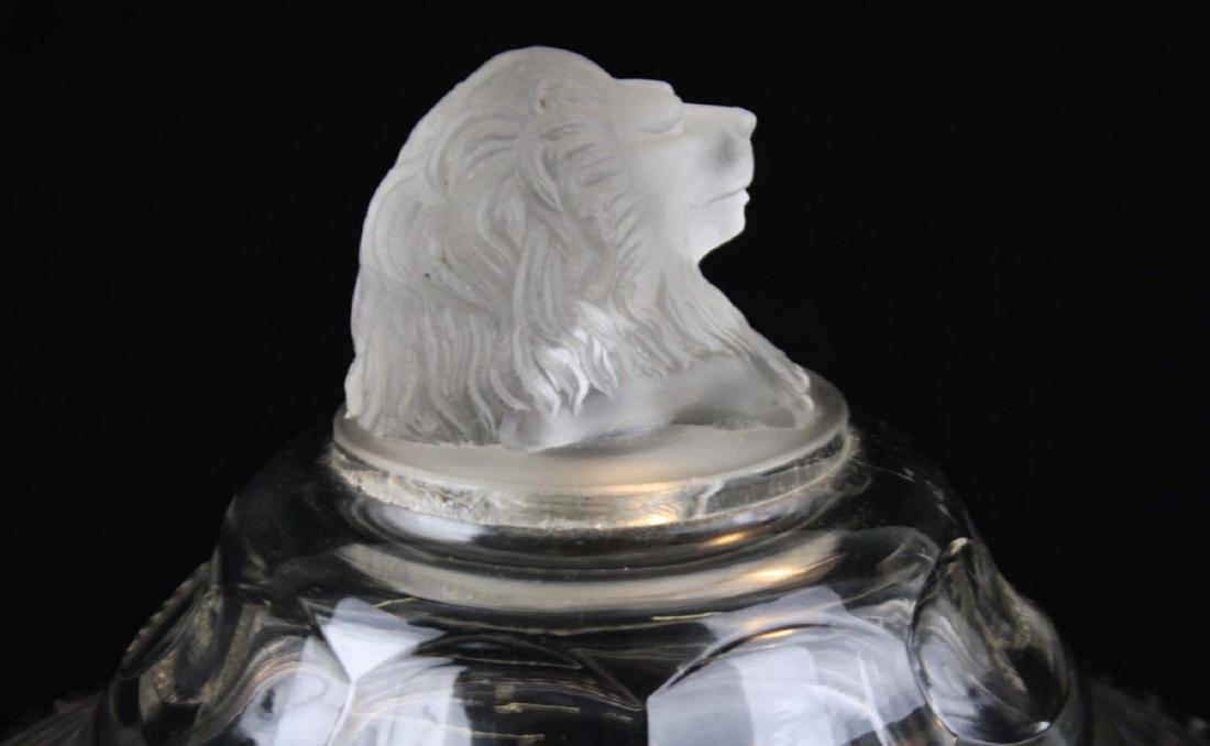 EAPG Gillinder and Sons frosted lion compote - 2