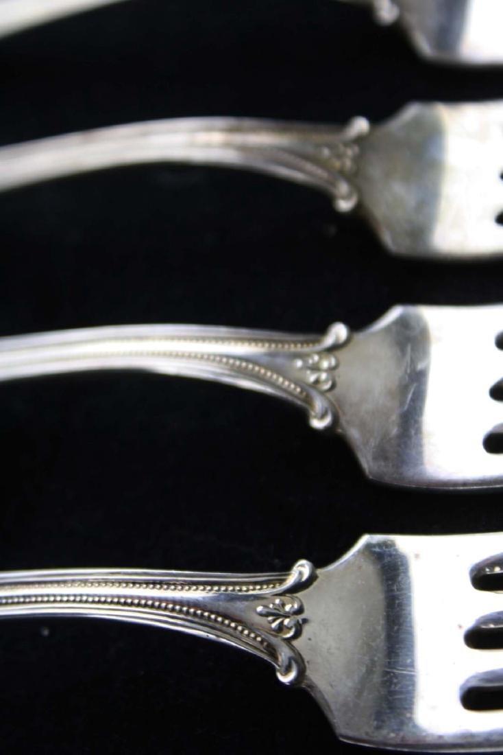 6 Towle Paul Revere sterling silver dinner forks - 4