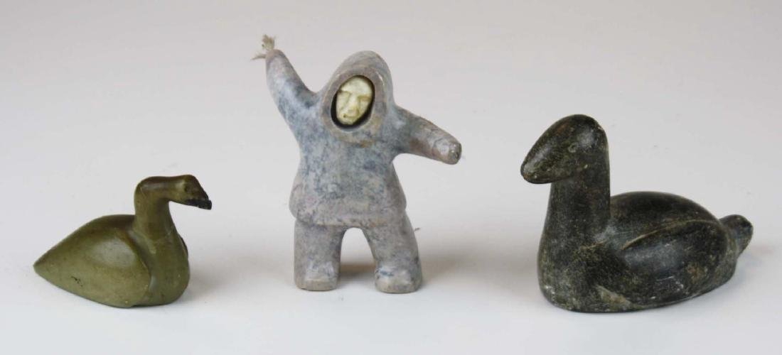 mid 20th c Inuit soapstone carvings