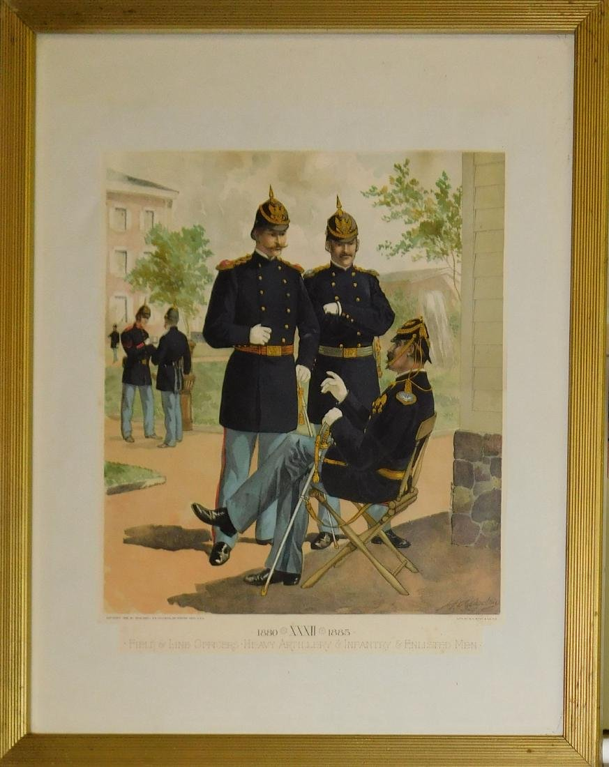 1880-1885 Field and Line Officers Litho