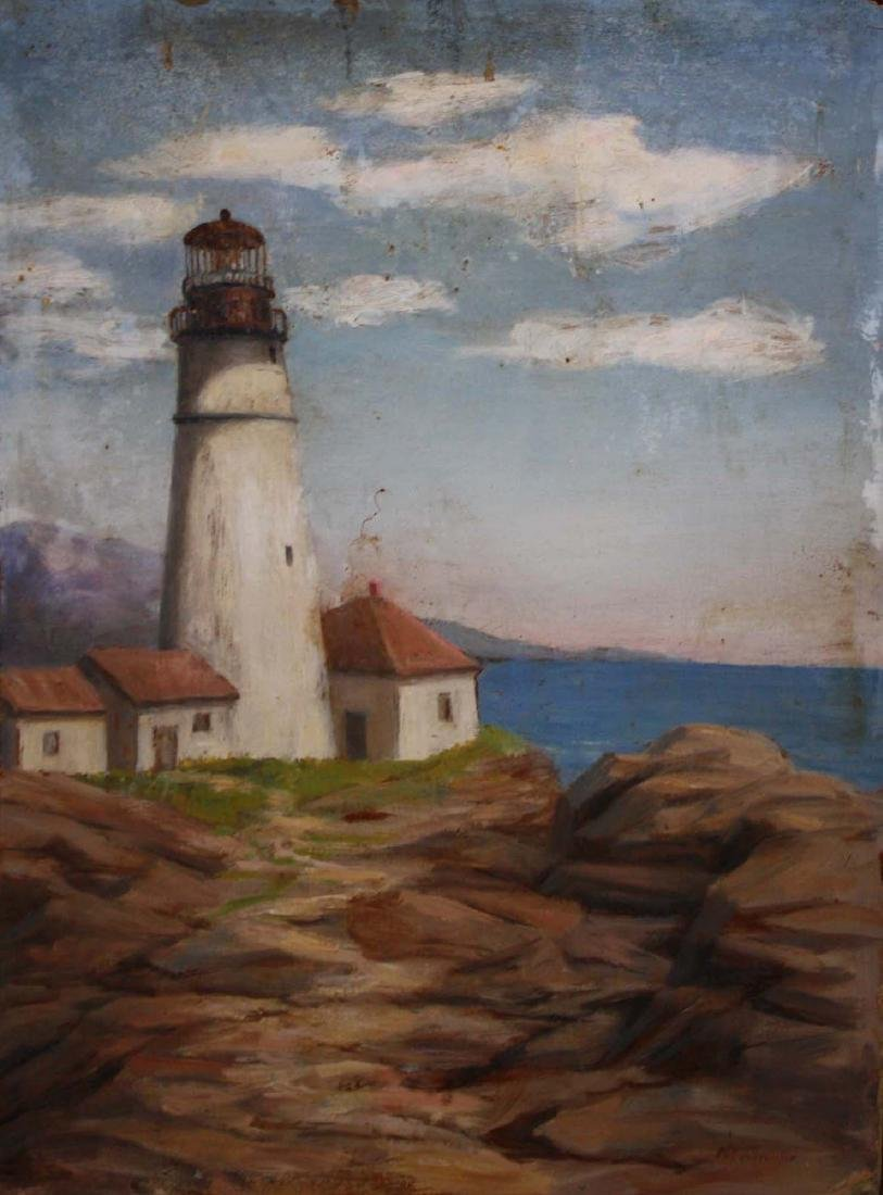 Katherine Worcester (VT 20thc) Lighthouse