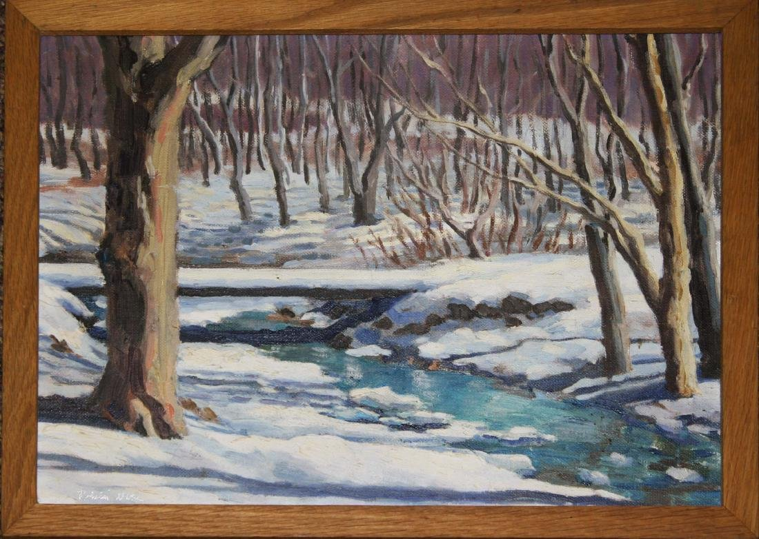 Robin Nuse (VT 20th c) Winter Stream