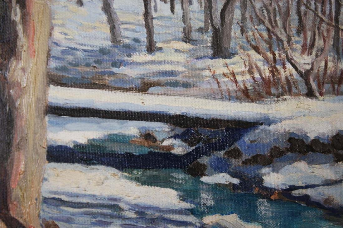 Robin Nuse (VT 20th c) Winter Stream - 3