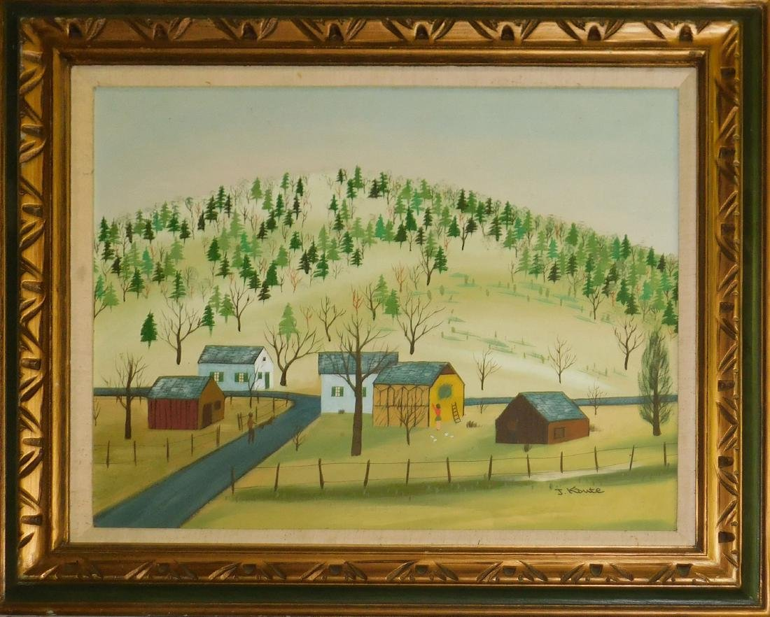 J Kaute (20th c) Landscape