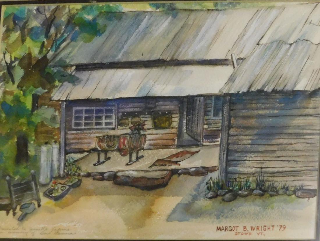 Margot B Wright (VT 20th c) Cabin