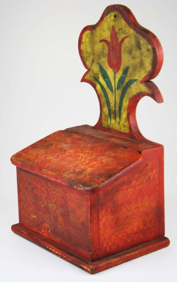 early 20th c painted salt box - 2