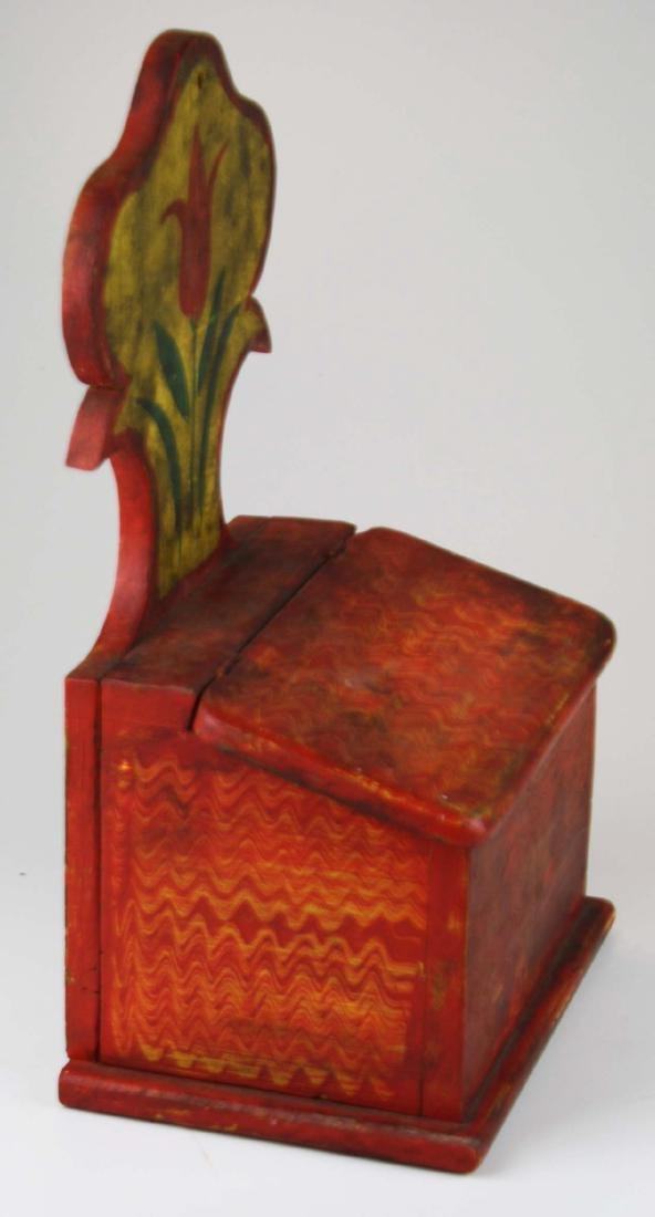 early 20th c painted salt box - 4