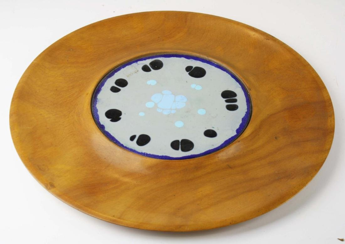 mid 20th c Mary Bryan enamel on copper dish