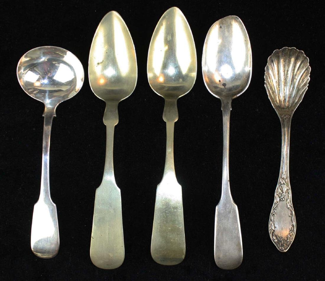1860 Russian spoon, other silver spoons