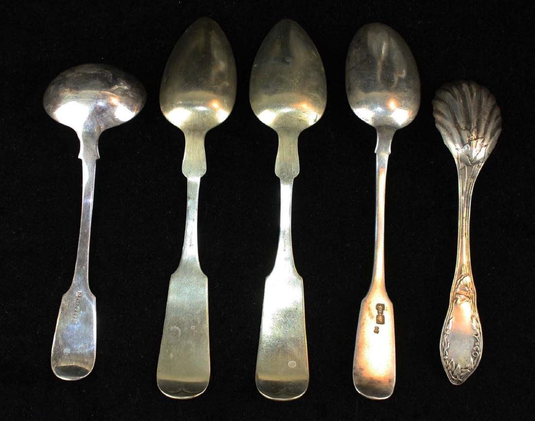 1860 Russian spoon, other silver spoons - 2