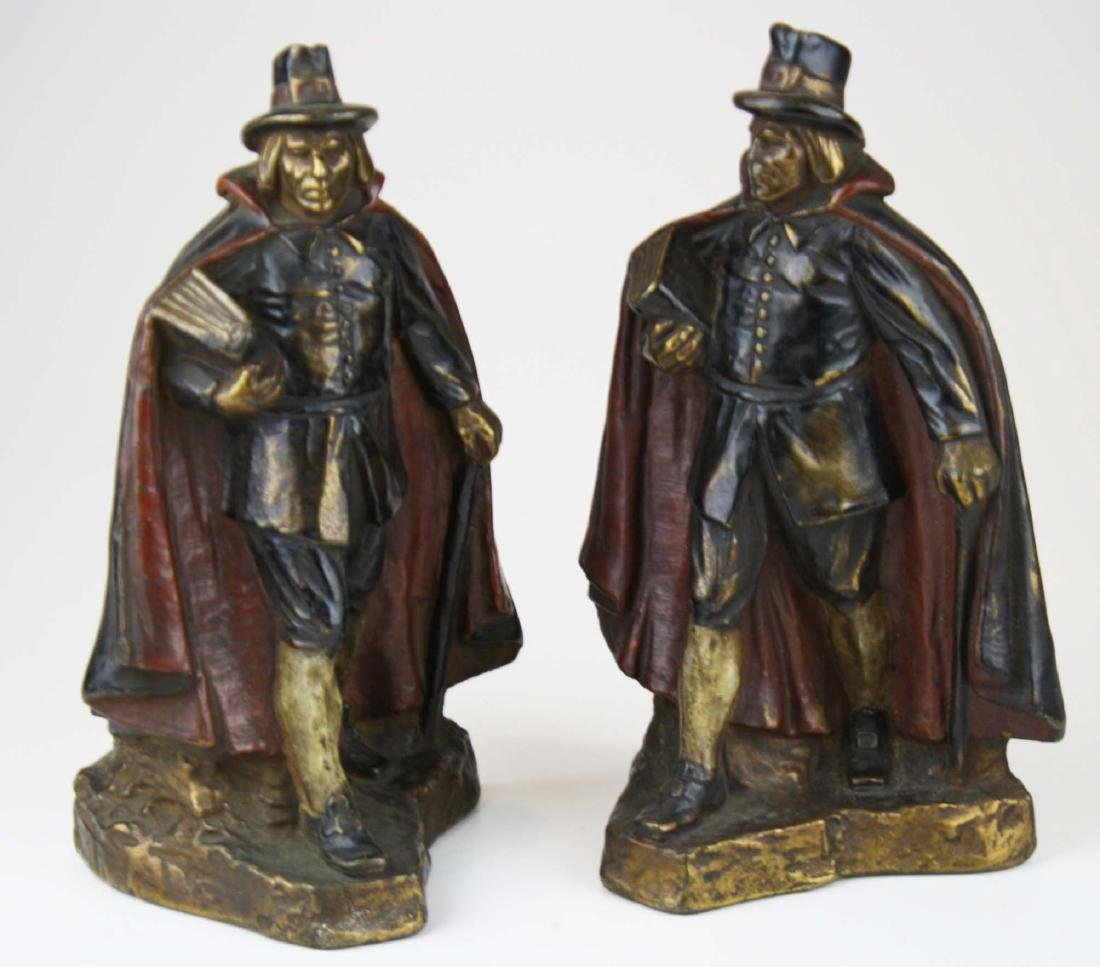 early 20th c J Ruhl pilgrim bookends
