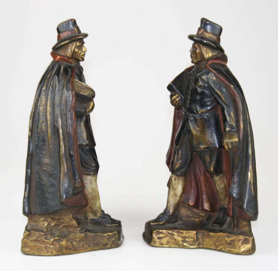 early 20th c J Ruhl pilgrim bookends - 3