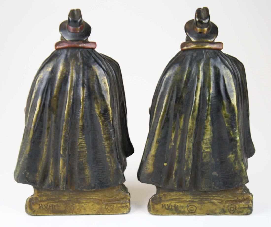 early 20th c J Ruhl pilgrim bookends - 4