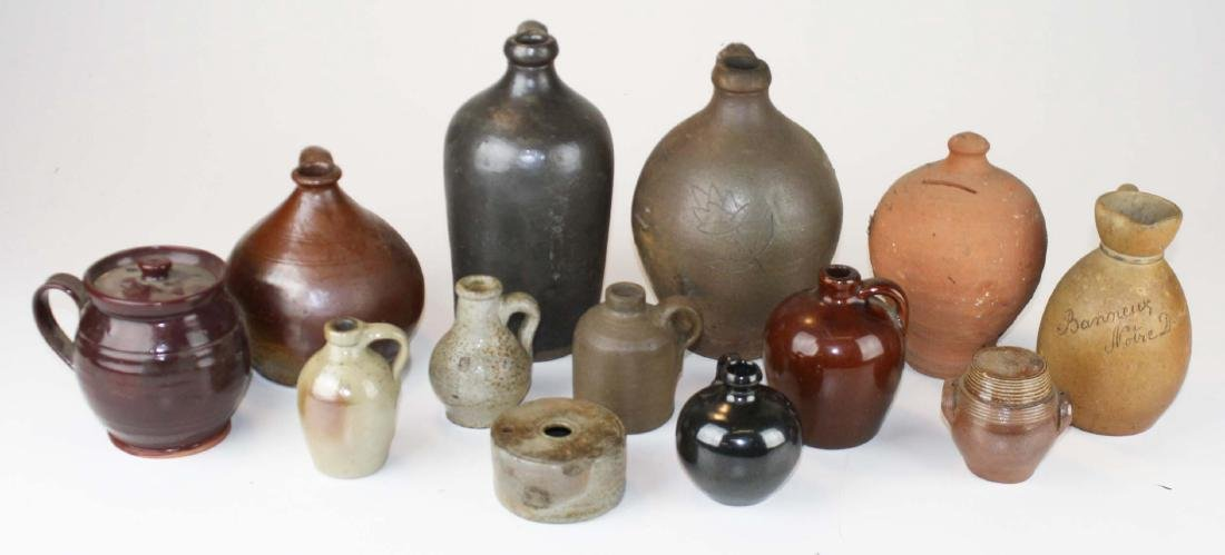 19th c & early 20th c stoneware & redware
