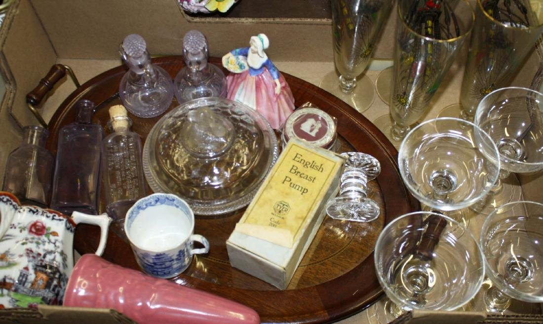 lot of glass, china, and assorted smalls