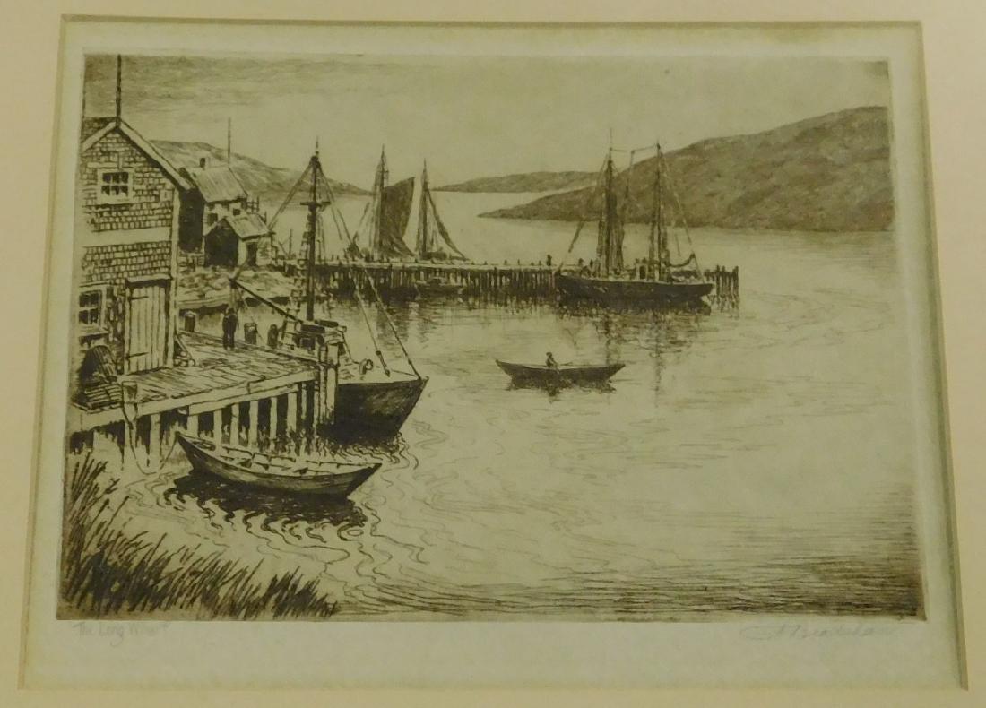 GA Bradshaw (Am 20thc) The Long Wharf