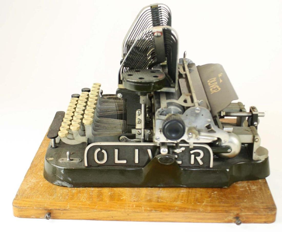 early 20th c Oliver typewriter w/ case - 3
