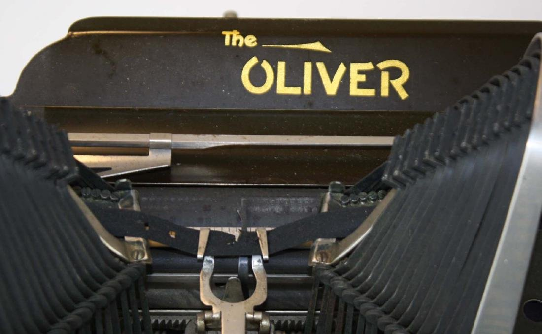 early 20th c Oliver typewriter w/ case - 5