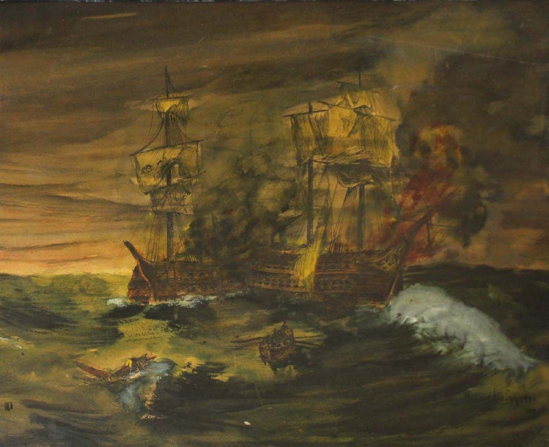 Howard Livingston (AM 20thc)  Sea Battle