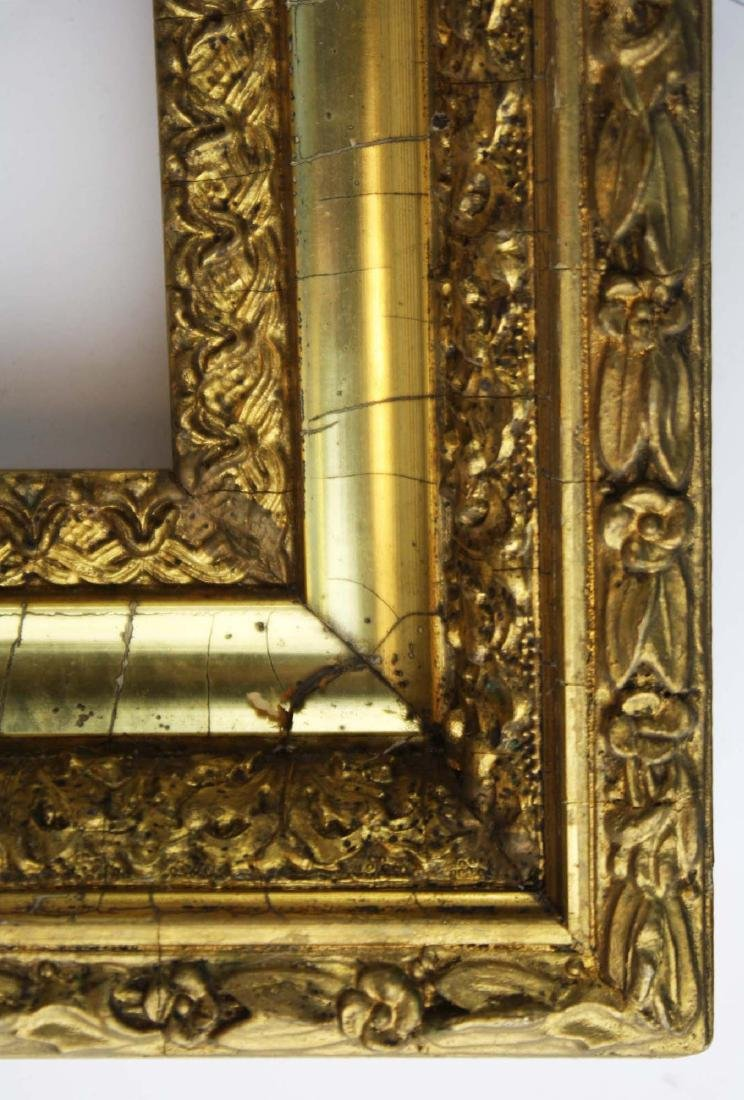 "late 19th c gilt & gesso frame fits 16"" x 20"" - 2"