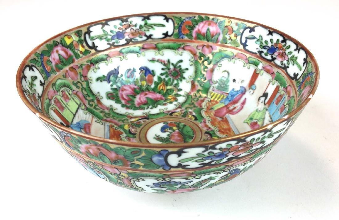 19th c Rosemedallion bowl