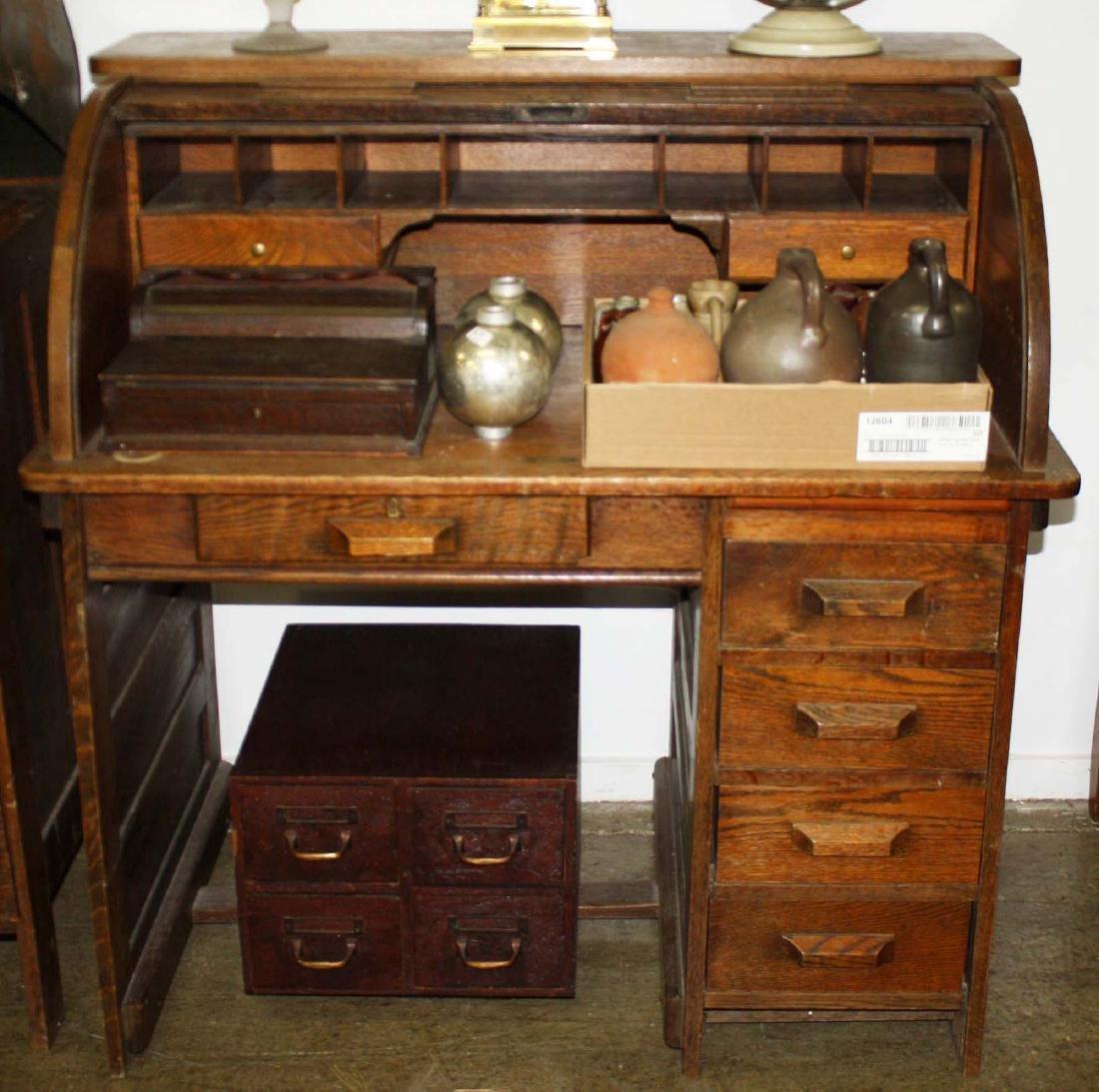Oak C Roll desk
