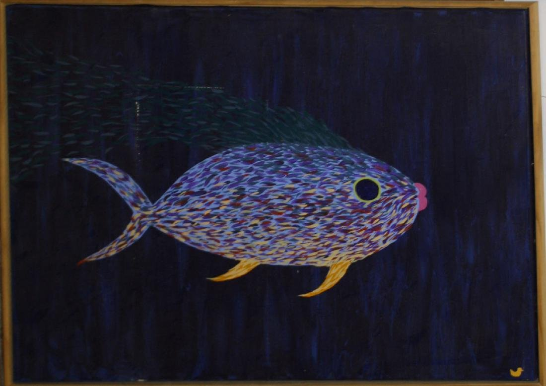 "oil on canvas ""Le Fish"""