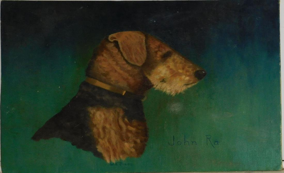 WF Jones- John RA portrait of Airedale