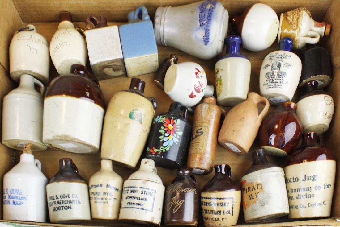 early 20th c miniature stoneware jugs