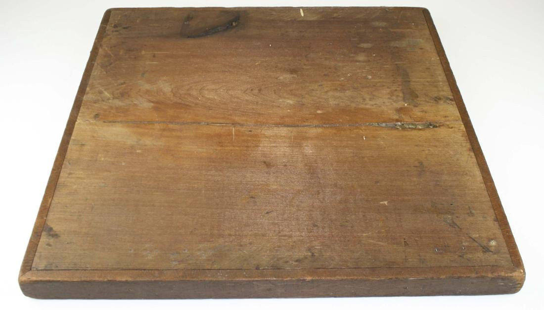 early 20th c parquetry game board as found - 2