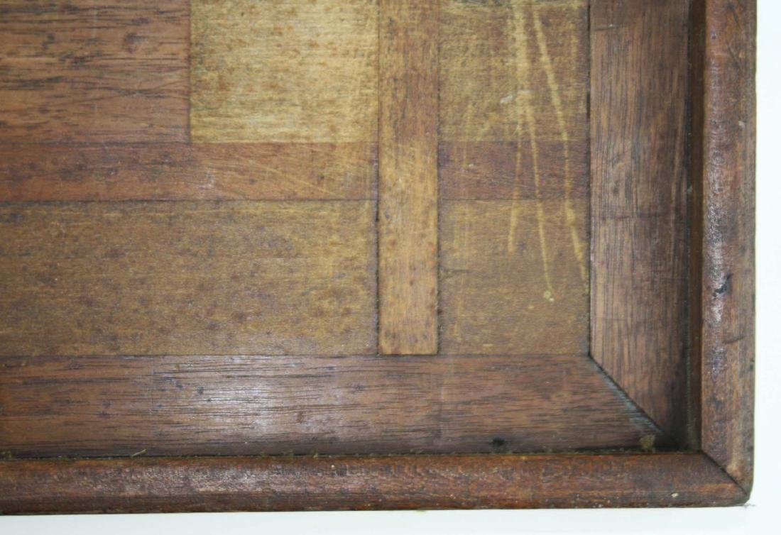 early 20th c parquetry game board as found - 3