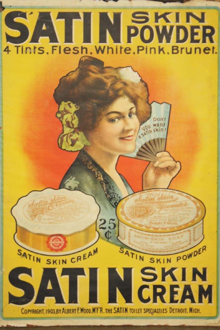 ca 1900 Satin Skin Powder & Cream adv poster