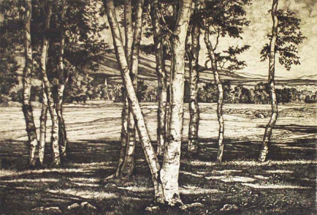 Luigi Lucioni (VT 1900-1988) Edge of the Birches