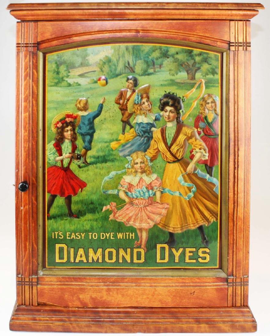 "ca 1900 Diamond Dyes ""governess"" dye cabinet"