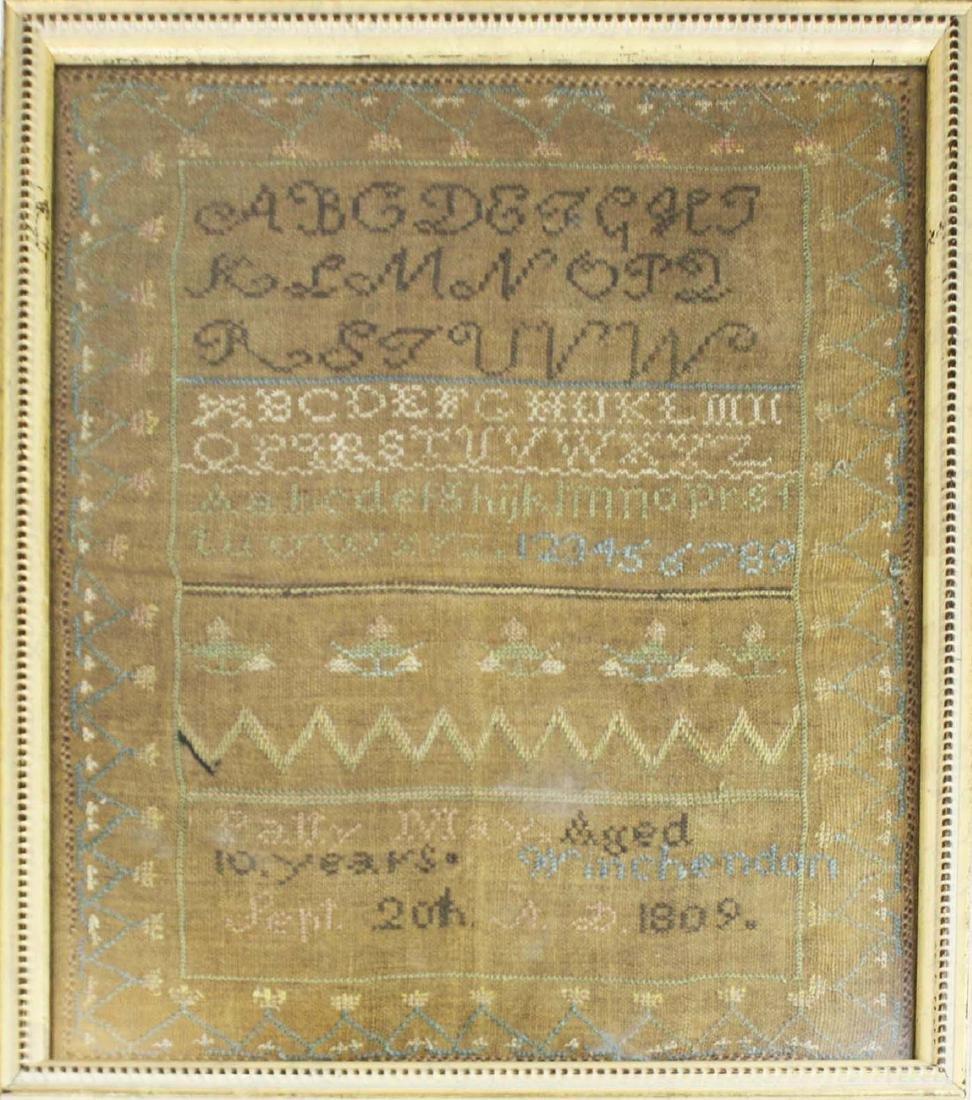 1809 Patty May, Winchendon schoolgirl sampler