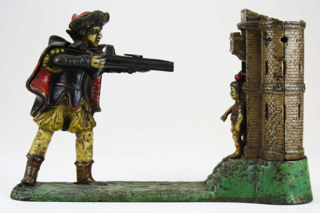 late 19th c William Tell cast iron mechanical bank